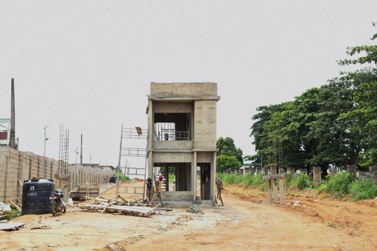 Picture of the ongoing development of the Engineer Lere Adigun G.R.A. Basorun, Ibadan taken on September 20, 2021
