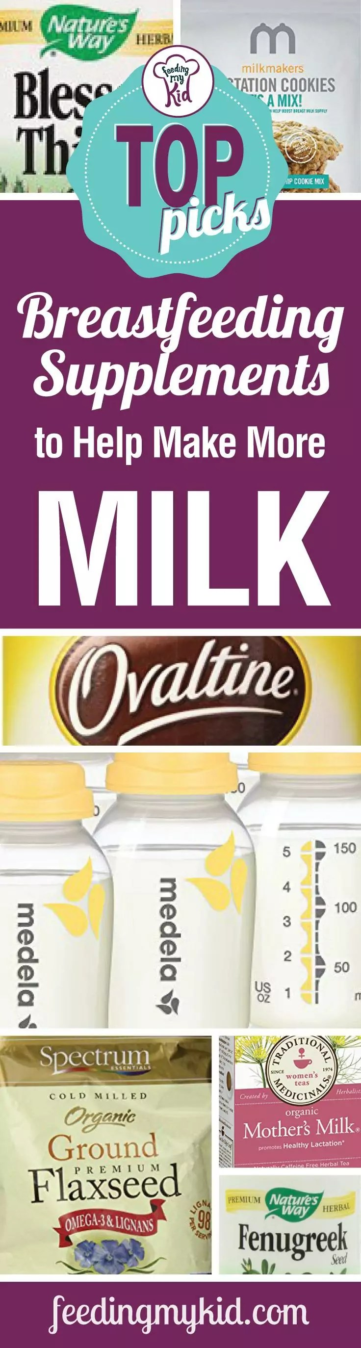 Top Picks Breastfeeding Supplements To Help Make More Milk