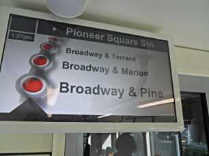Streetcar route sign