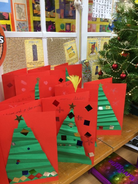 Christmas Tree card by Year 3 Primary School Art
