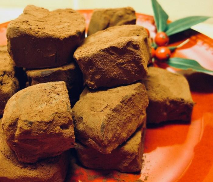 Chocolate and Roasted Walnut Truffles