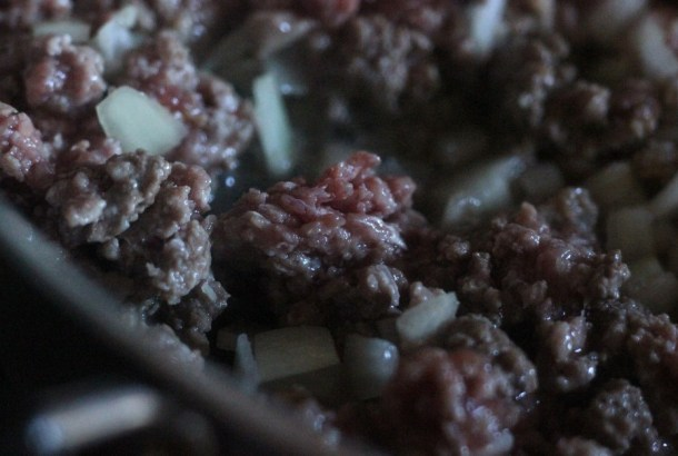 Ground beef and onion
