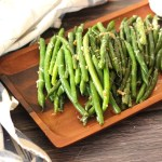 Green Beans Cooked with garlic and parmesan