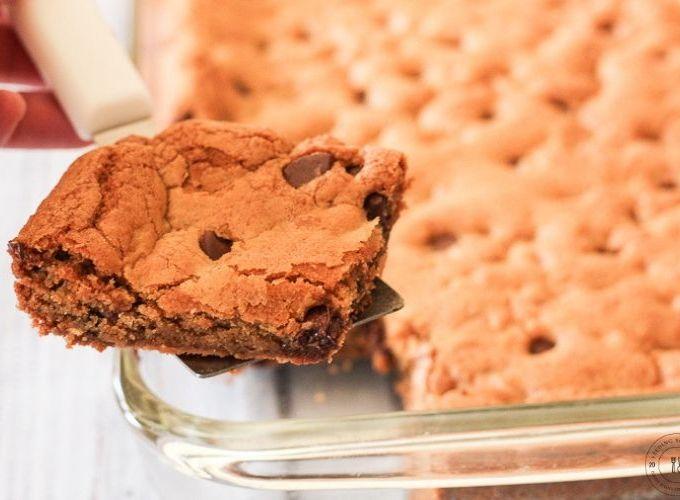 sliced cookie bar