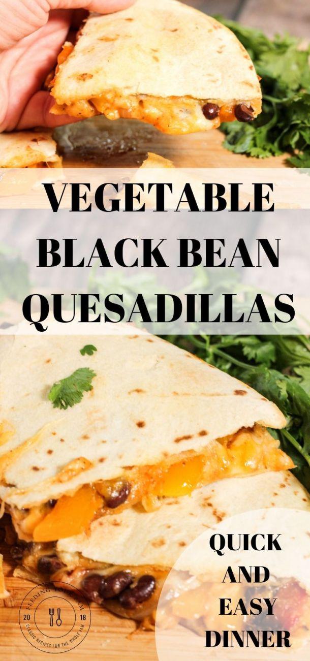 cooked cheese vegetable black bean quesadillas