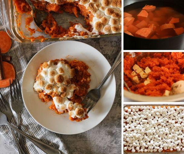 sweet potato casserole collage