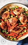 roasted chicken and veggies