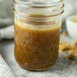jar of homemade caramel sauce