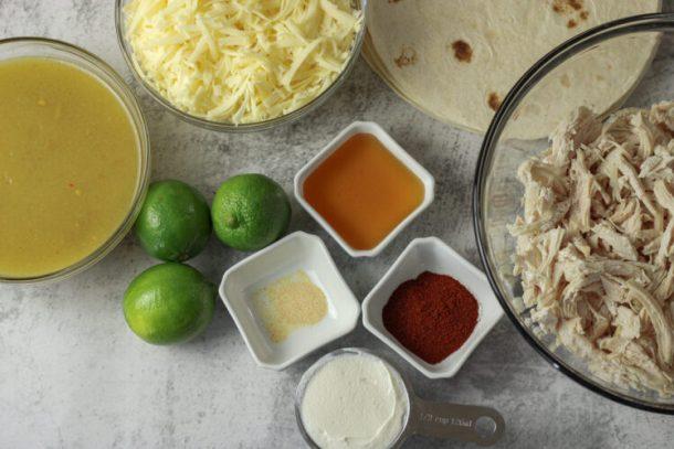 ingredients for chicken enchiladas