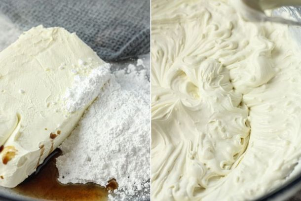 whipping cream and cream cheese