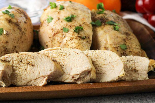 sliced chicken breasts