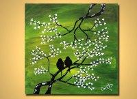 25 Beautiful Love Birds Painting Etsy
