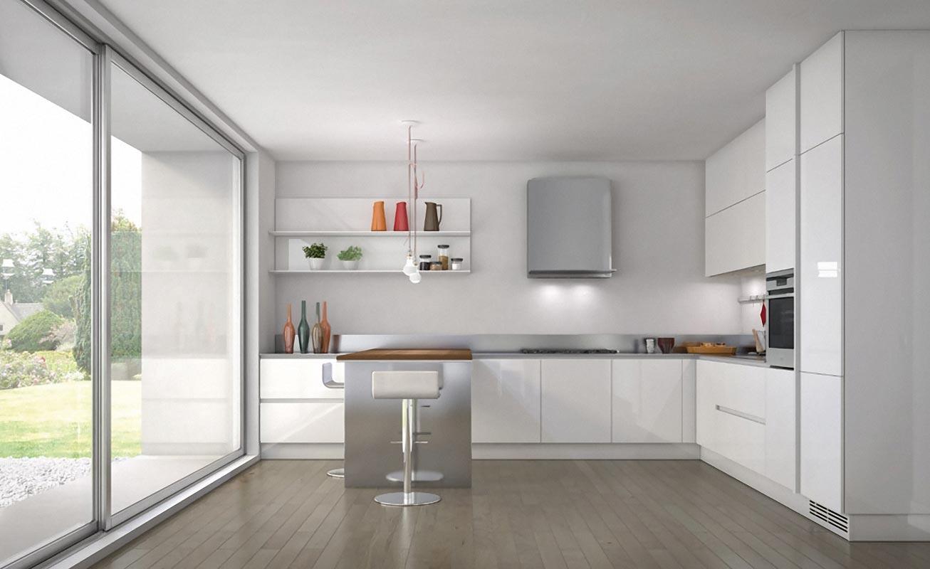white kitchen cabinets ideas vinyl flooring 30 contemporary kitchens