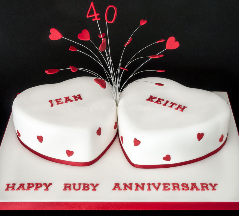 Heart Shaped Wedding Anniversary Cakes
