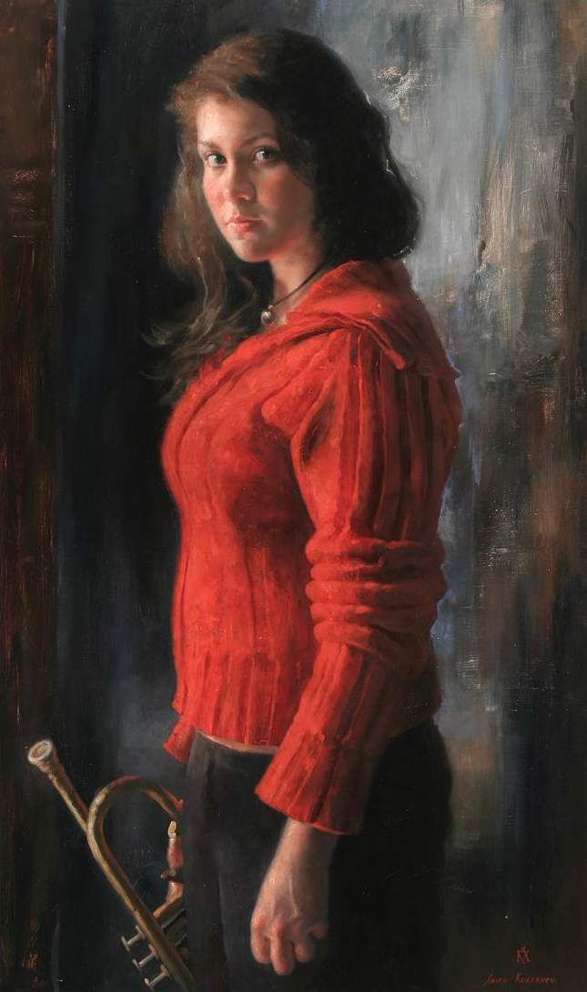 30 Oil Painting Portrait Of Girl