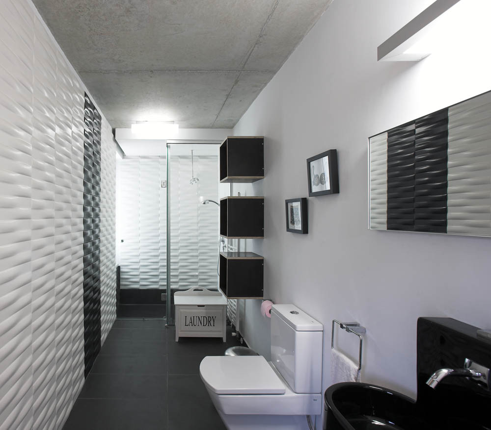 Cool Black And White Bathroom Design Ideas