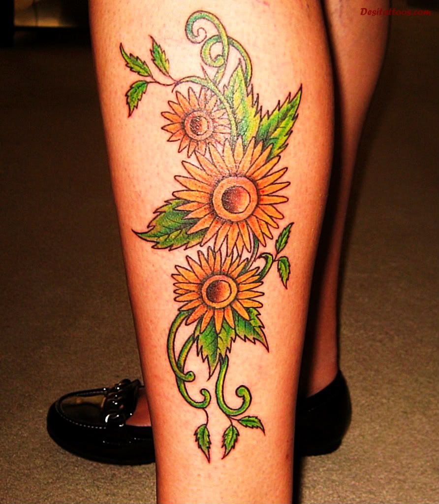 Sunflower Sleeve Tattoo Ideas