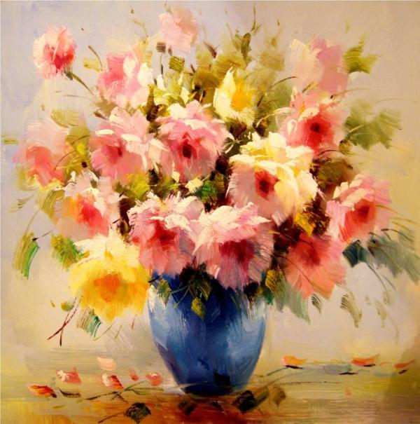 Paintings Of Flowers Famous Artists