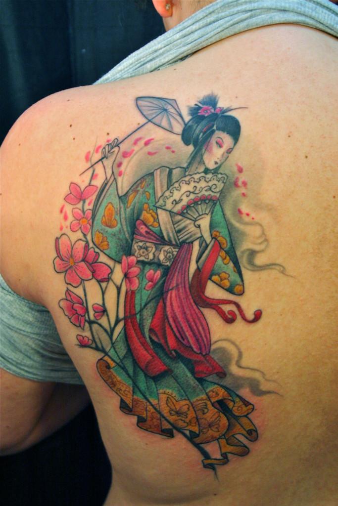 Beautiful Geisha Tattoos Designs