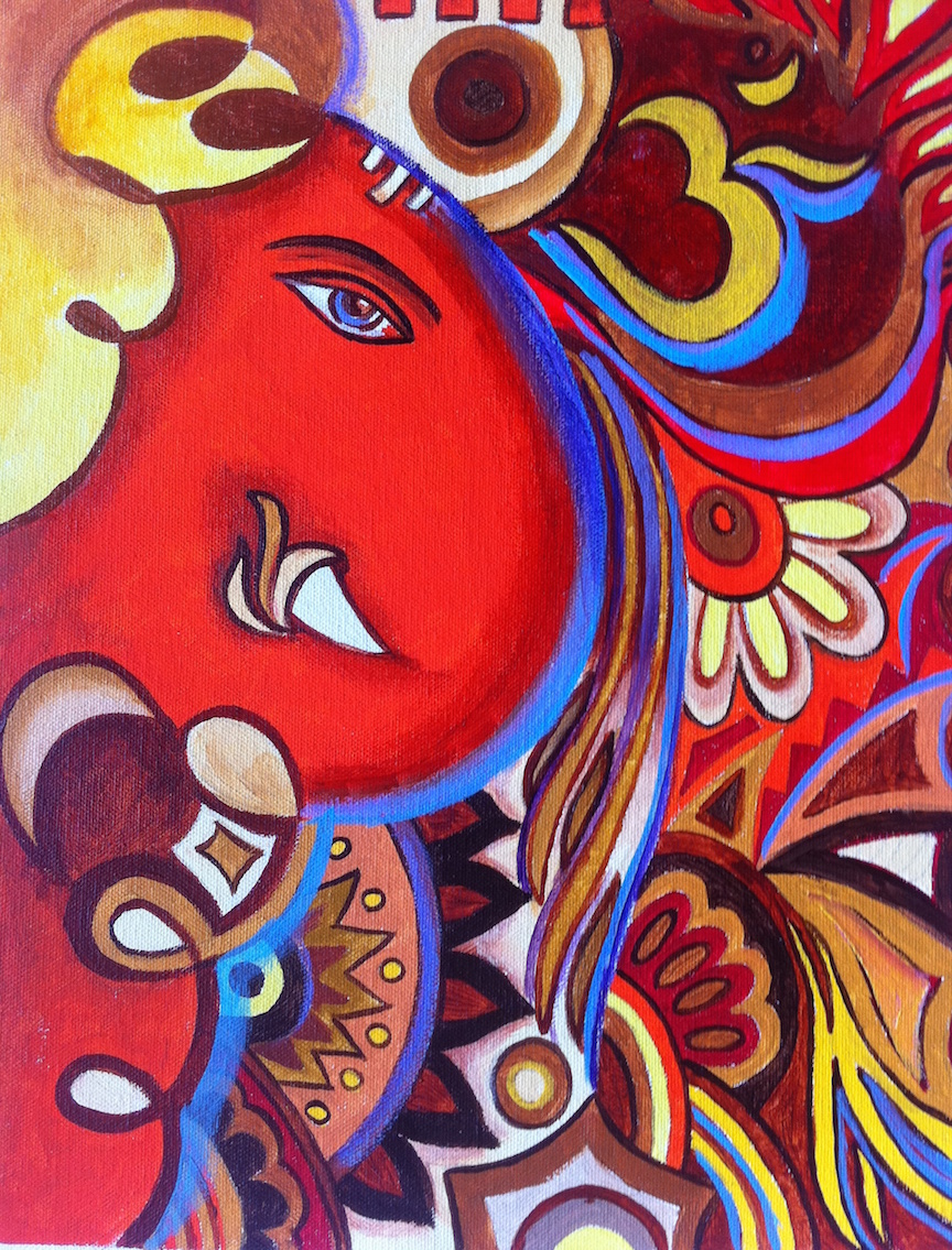 Ganapati Wallpaper Hd 25 Beautiful Paintings Of Lord Ganesha