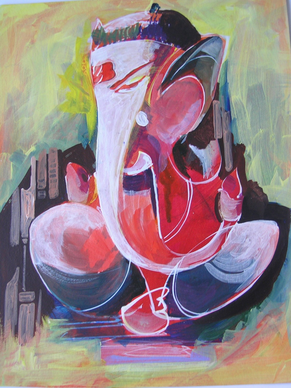 25 Beautiful Paintings Of Lord Ganesha