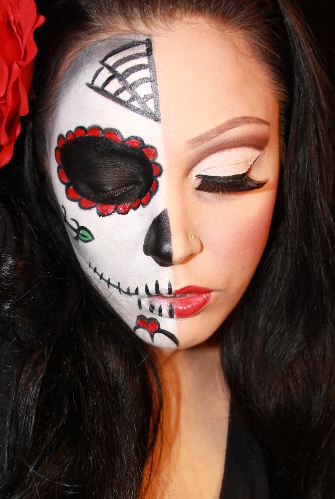 23 Best Sugar Skull Halloween Makeup Ideas  Feed Inspiration