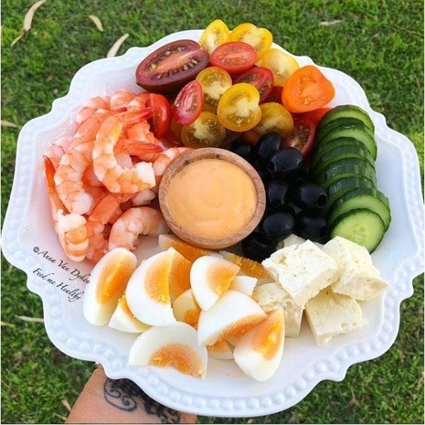 Lunch Platter – Prawns