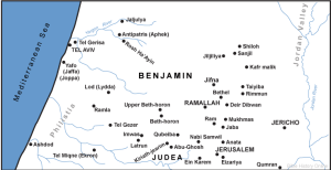 The tribe of Benjamin Map - Fmtwtoday