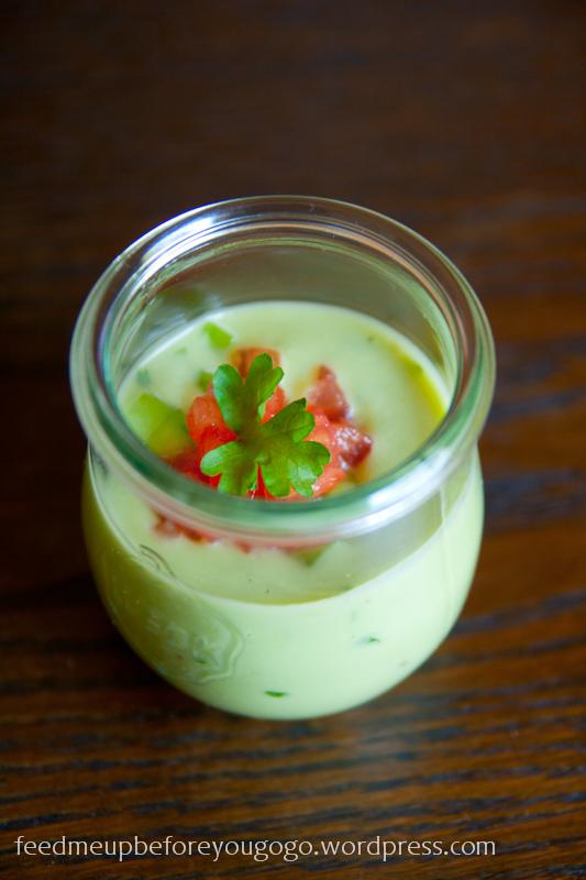 Avocado-Kokos-Suppe im Glas Rezept