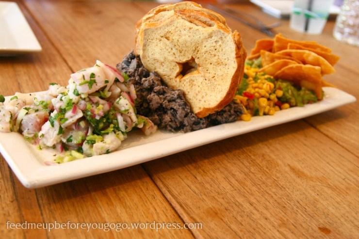 Food Tour Miami South Beach Café at Books and Books Dips Hummus Bagel