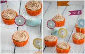 Kürbis-Walnuss-Zimt-Cupcakes