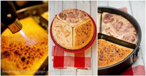 Triple-cheesecake Creme brulee Himbeer Banane-Kokos-5