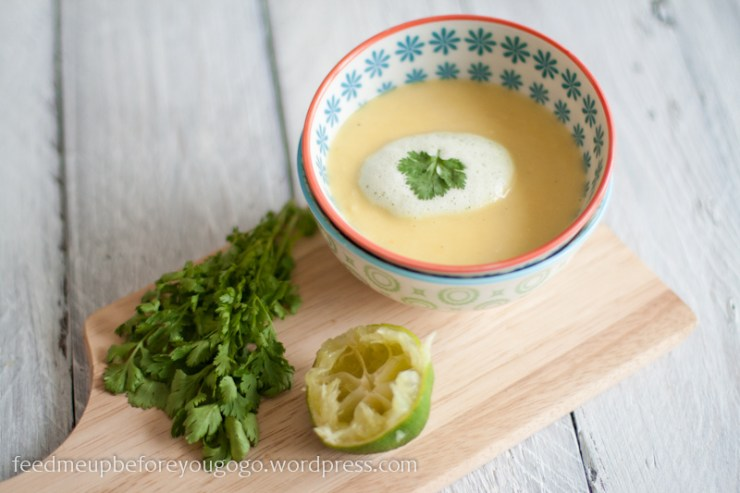 Mango-Ingwer-Suppe mit Korianderschaum by feed me up before you go-go-3