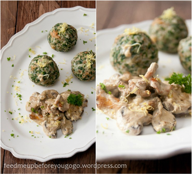 Spinatknödel mit Pilzragout by feed me up before you go-go-1-2