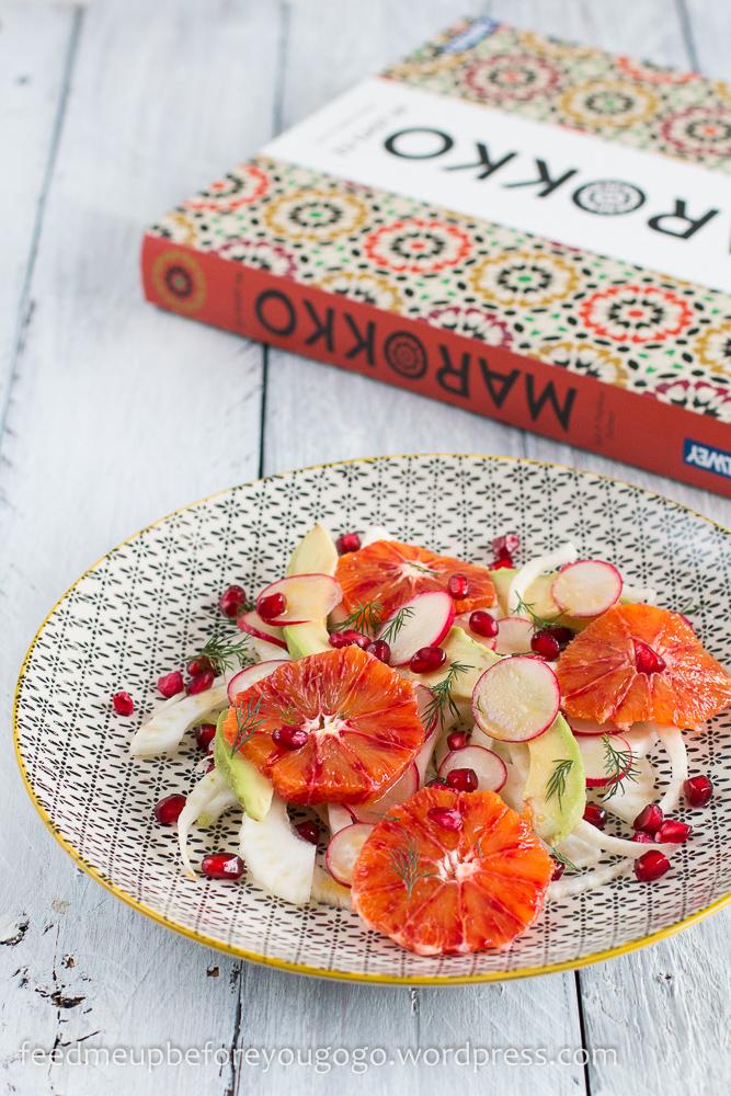 Fenchel-Blutorangen-Salat mit Avocado, Granatapfel, Dill Rezept-3-2