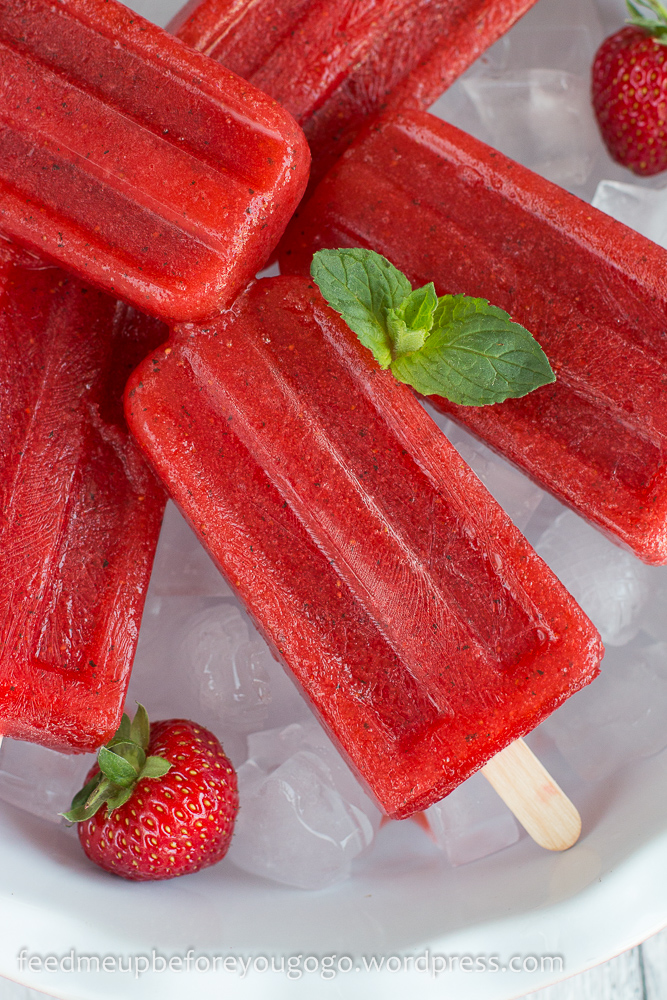 Erdbeer-Mojito-Popsicles Eis Rezept Feed me up before you go-go-2