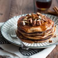 Kürbis-Pancakes mit Zimtbutter Rezept