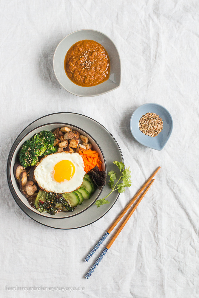 Vegetarisches Bibimbap Rezept Feed me up before you go-go