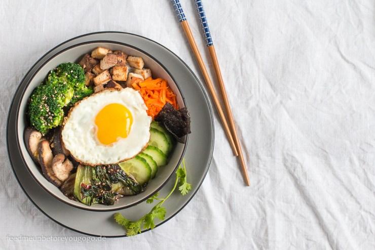 Vegetarisches Bibimbap Rezept Feed me up before you go-go