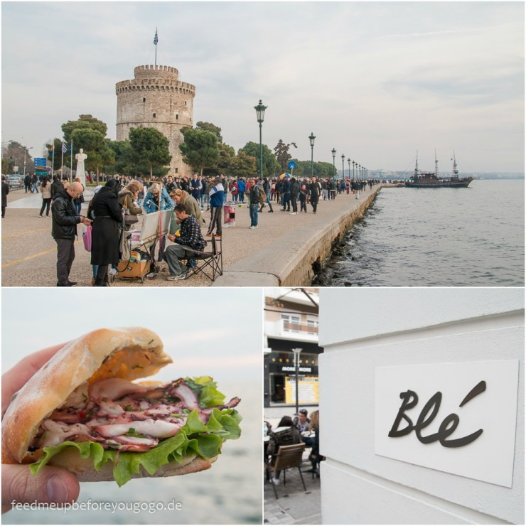 Thessaloniki Promenade Hafen Feed me up before you go-go