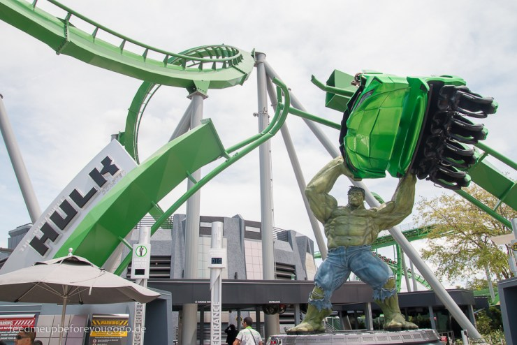 Hulk Achterbahn Islands of Adventure Universal Studios Orlando