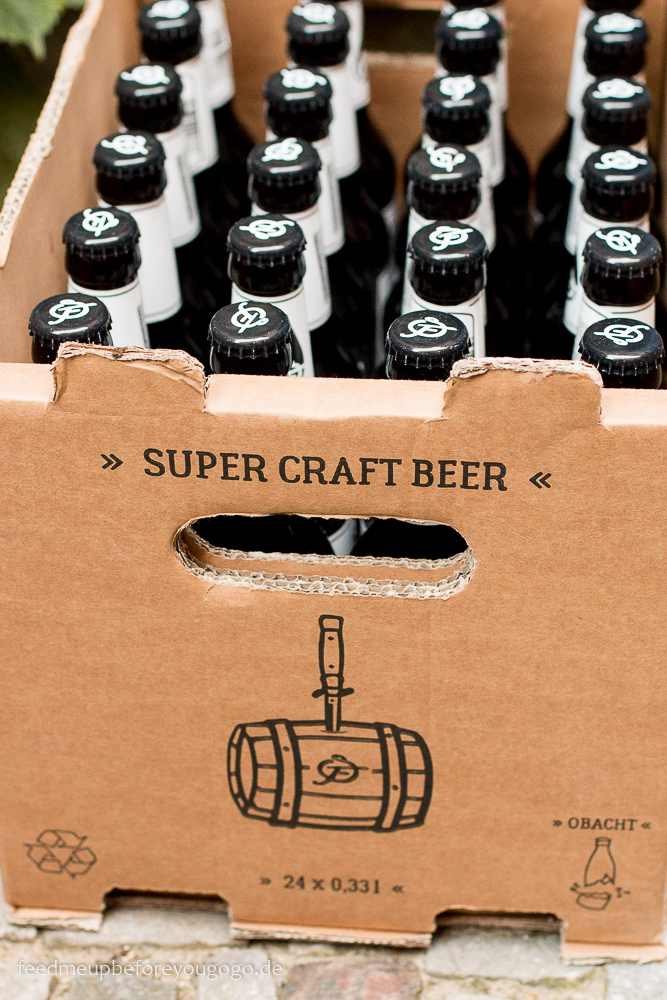 Super Craft Beer Karton mit Flaschen
