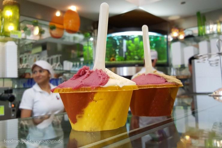 Bozen kulinarisch Eisdiele Avalon Südtirol Italien