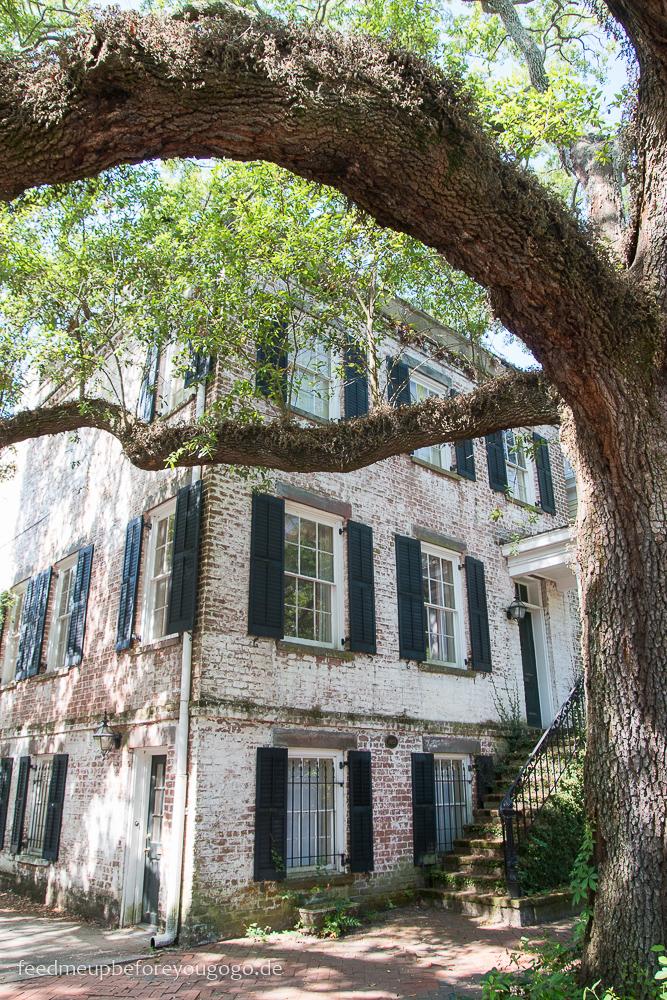 Jones Street Savannah Haus mit Eiche Südstaaten