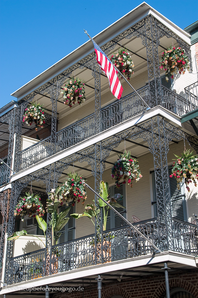 3 Tage in New Orleans Balkon im French Quarter
