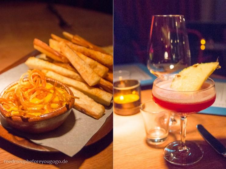 Blitz Restaurant München Yuca Frita mit Bananenketchup Daiquiri El Presidente