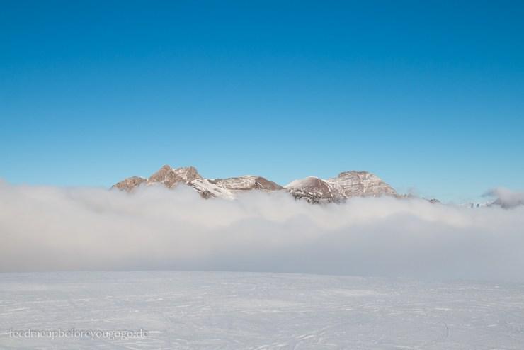 Großarl Kreuzkogel Berg im Schnee und Nebel Salzburger Land