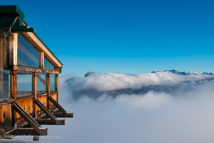Großarl Laireiter Alm Kreuzkogel Berg Nebel Salzburger Land
