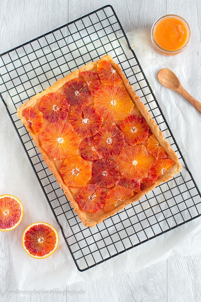 Blutorangentarte mit Orangenkaramell Rezept