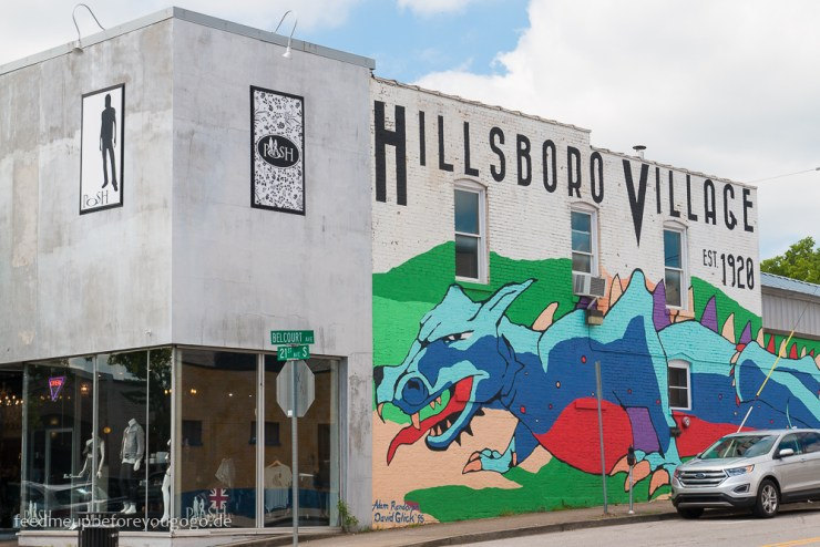 Hillsboro Village Mural Nashville Tennesse Reisetipps Feed me up before you go-go